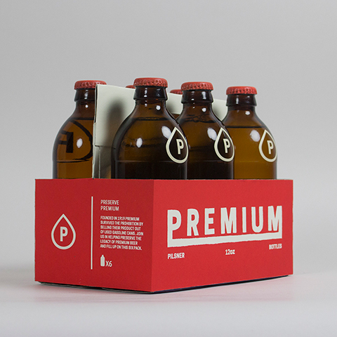 PREMIUM PILSNER BEER    packaging