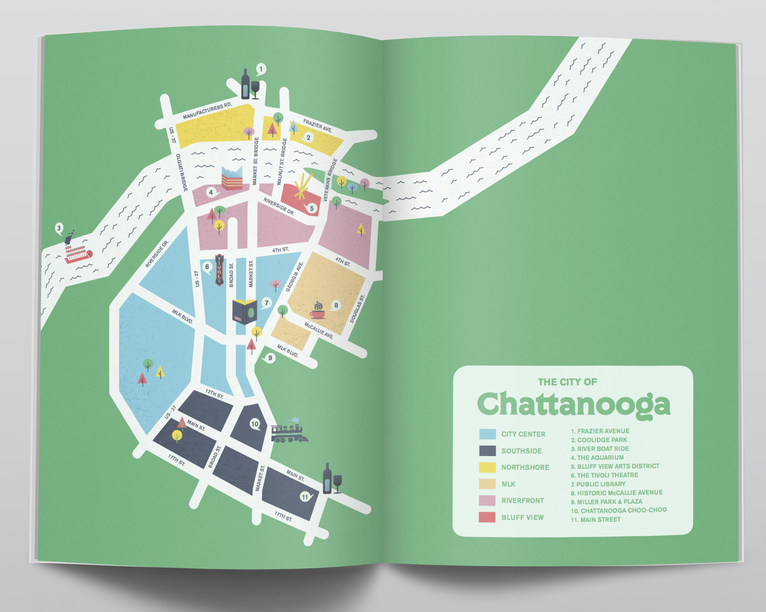 Map of Chattanooga