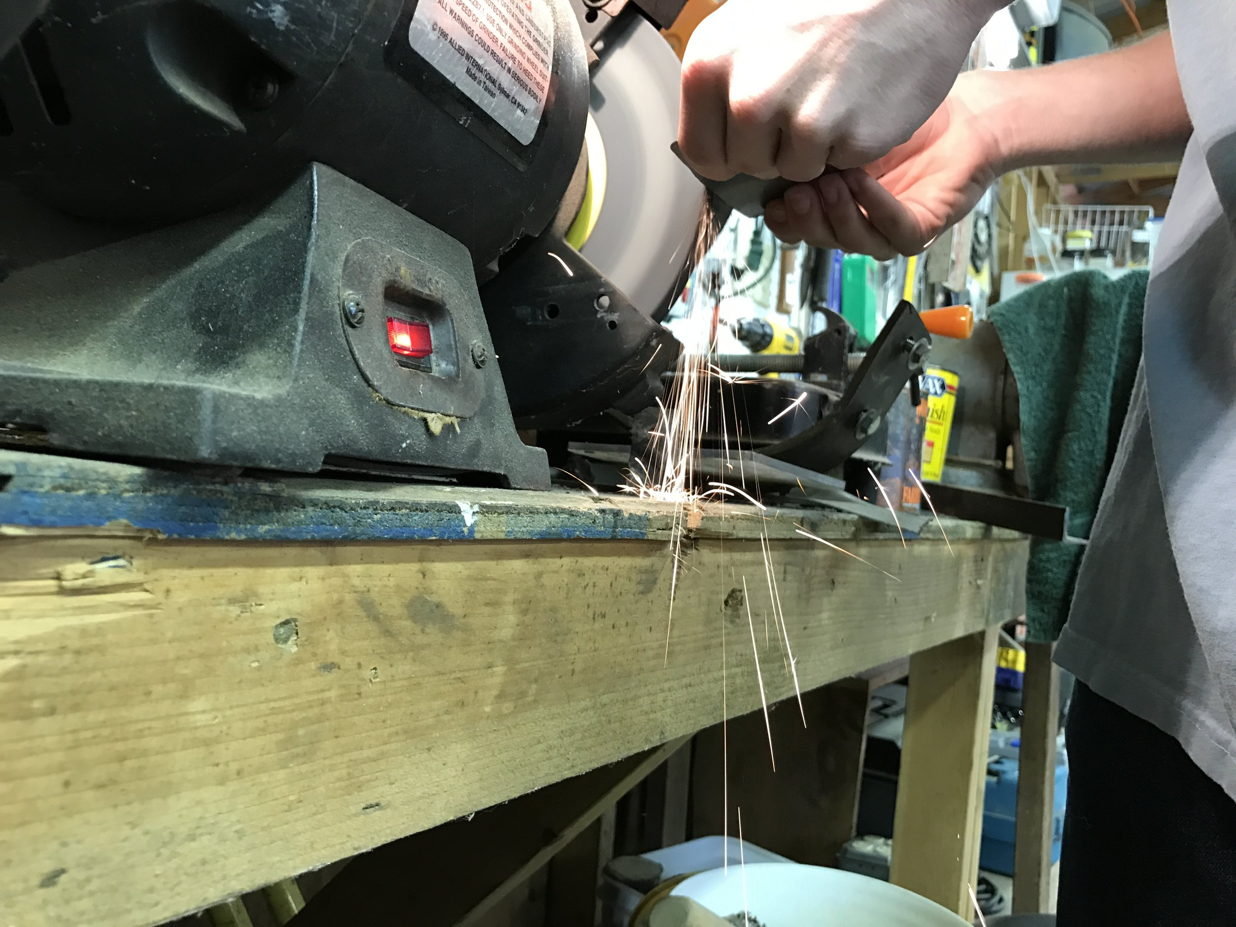 Hand shaping each stand