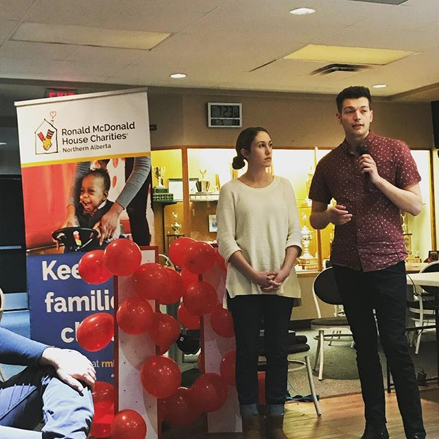 It was amazing to hear their journey with @rmhcna. Thank you for sharing your story with us tonight. #keepingfamiliesclose #givinggrowingtogether #yegcommunity