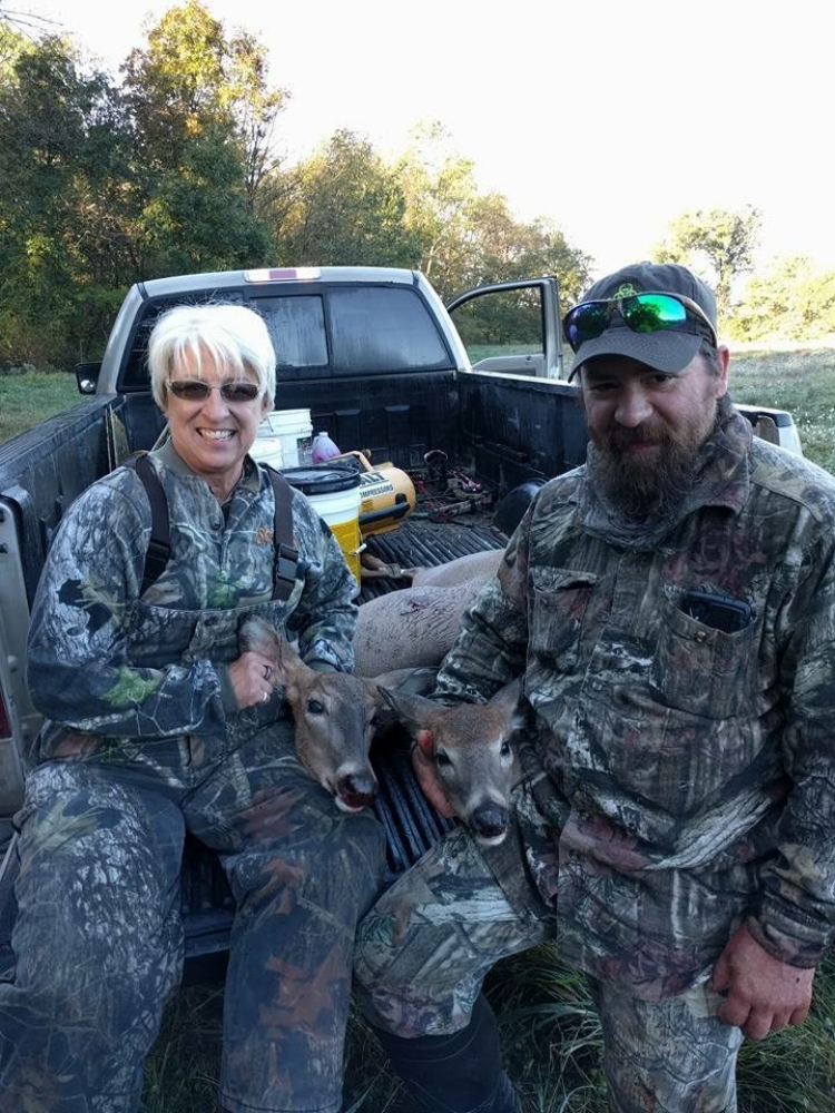 Ken and Becky are looking pretty happy after 2 deer down!