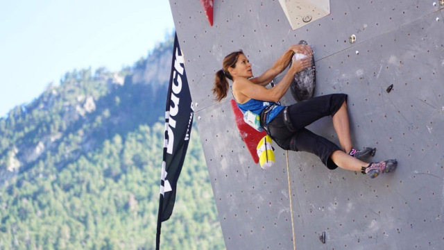 Making some moves in the IFSC World Cup (Lead) Briancon