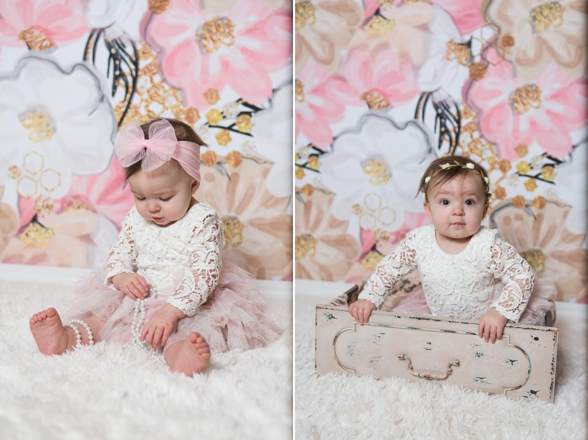 reno photographer baby girl studio pink and gold kristi gayton photography