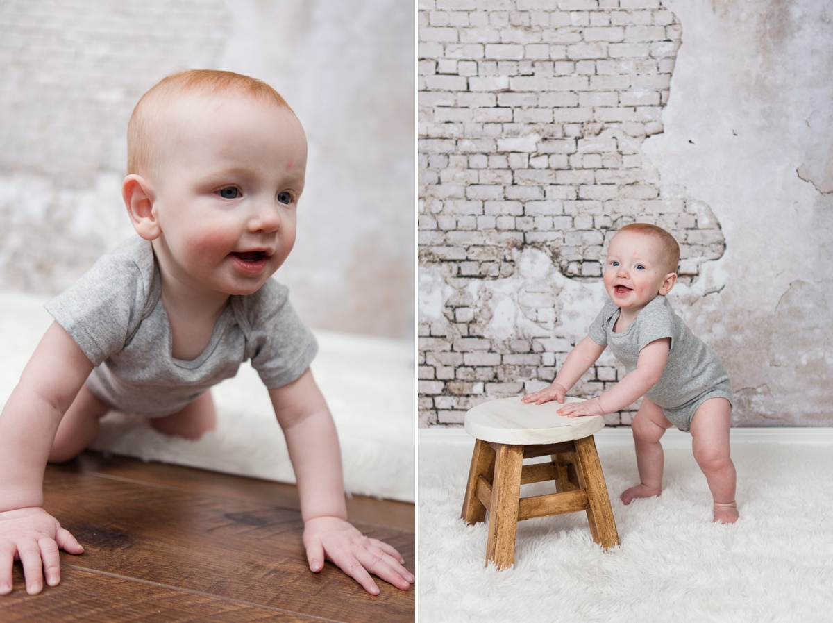 reno newborn photographer milestone session bryson one year kristi gayton photography