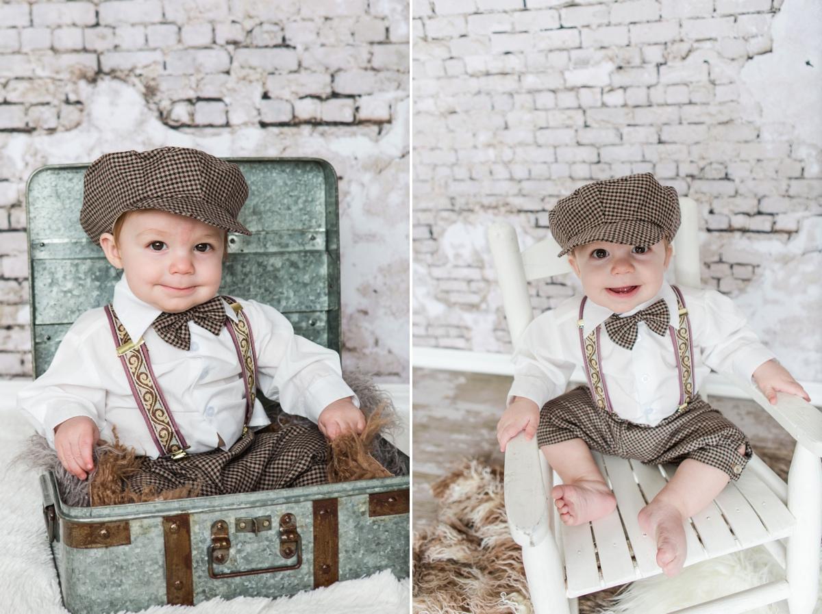 Reno newborn photographer baby boy hat vintage session kristi gayton photography
