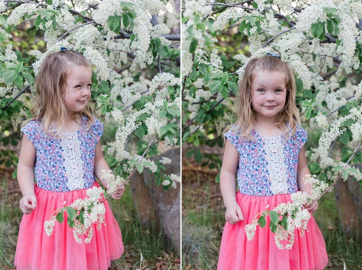 Reno family photographer child in flowers kristi gayton photography