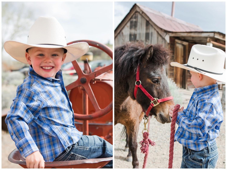 Reno photographer mini session cowboy theme kristi gayton photography