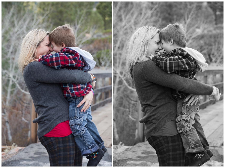reno nevada galena creek park family kristi gayton photography mom and son winter