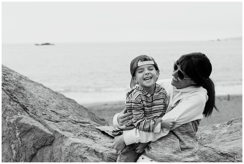 Kristi Gayton Photography Bodega Bay beach with declan