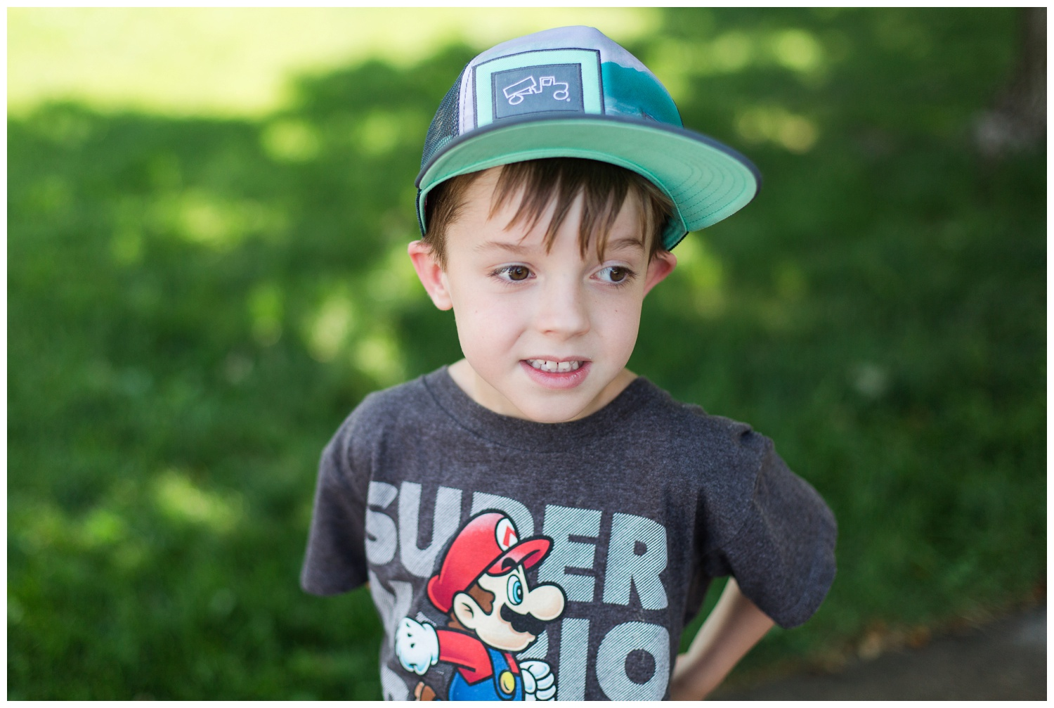 Declan LOVES to wear any kind of shirt with a character on the front of it! And Big Truck hats are always in style!