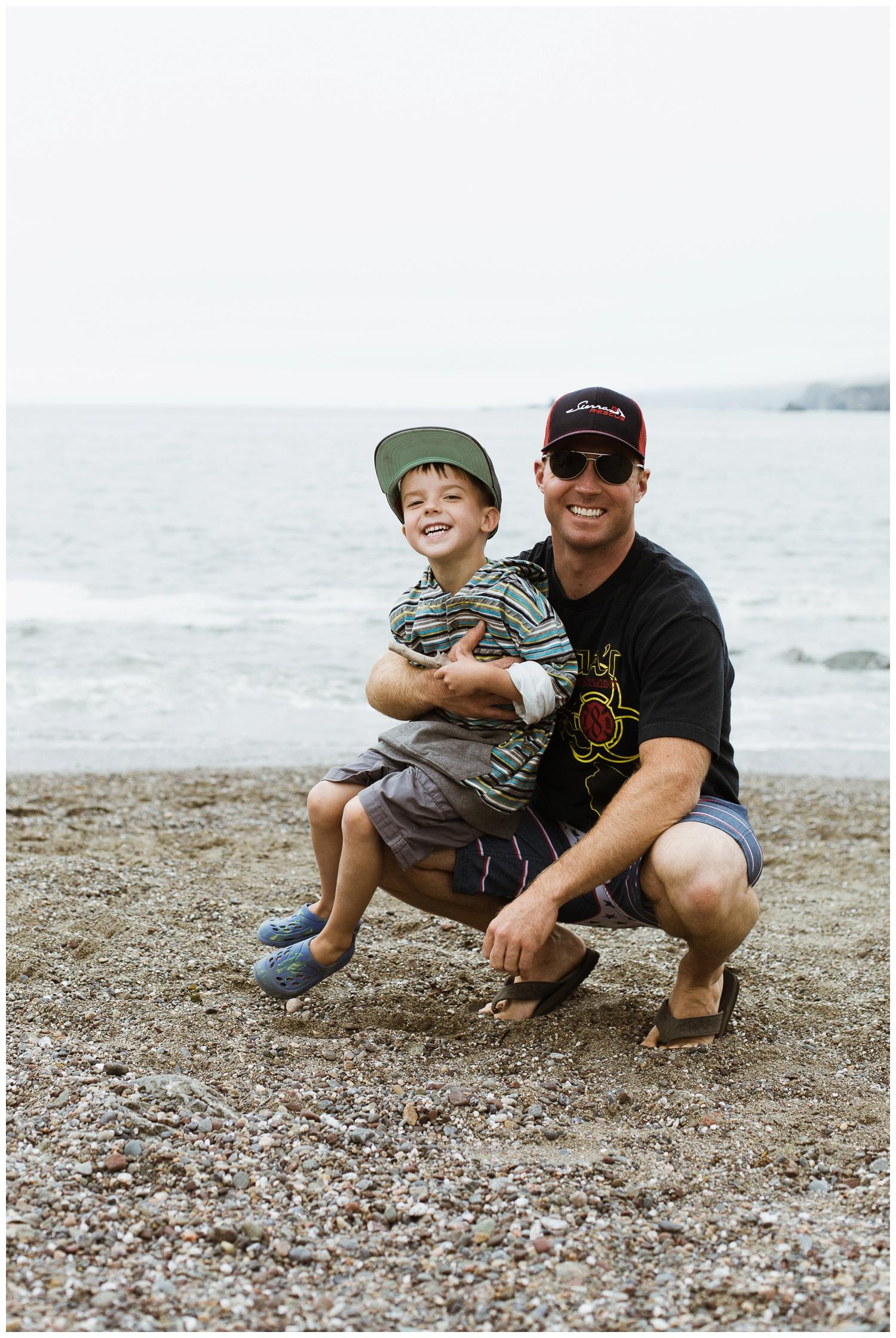Beach fun with Daddy!