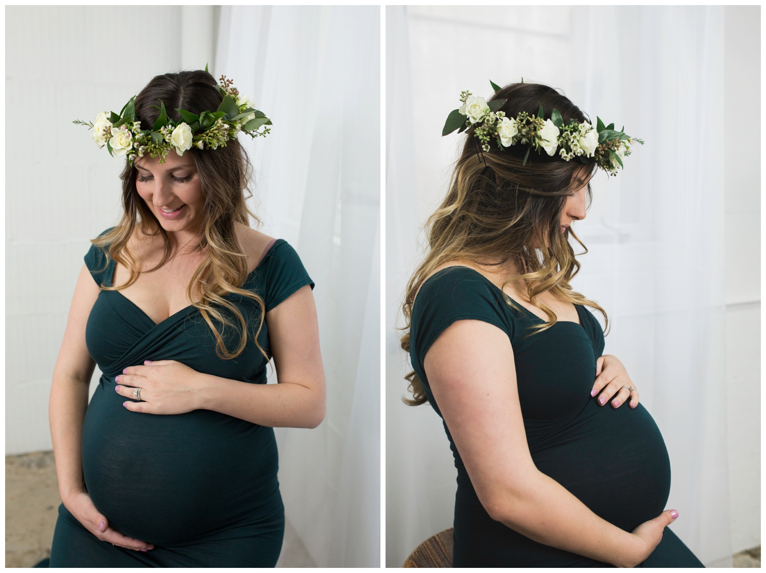 The image on the right is one of my favorites. . . Profile maternity shots get me every time! This Mom couldn't be more stunning!