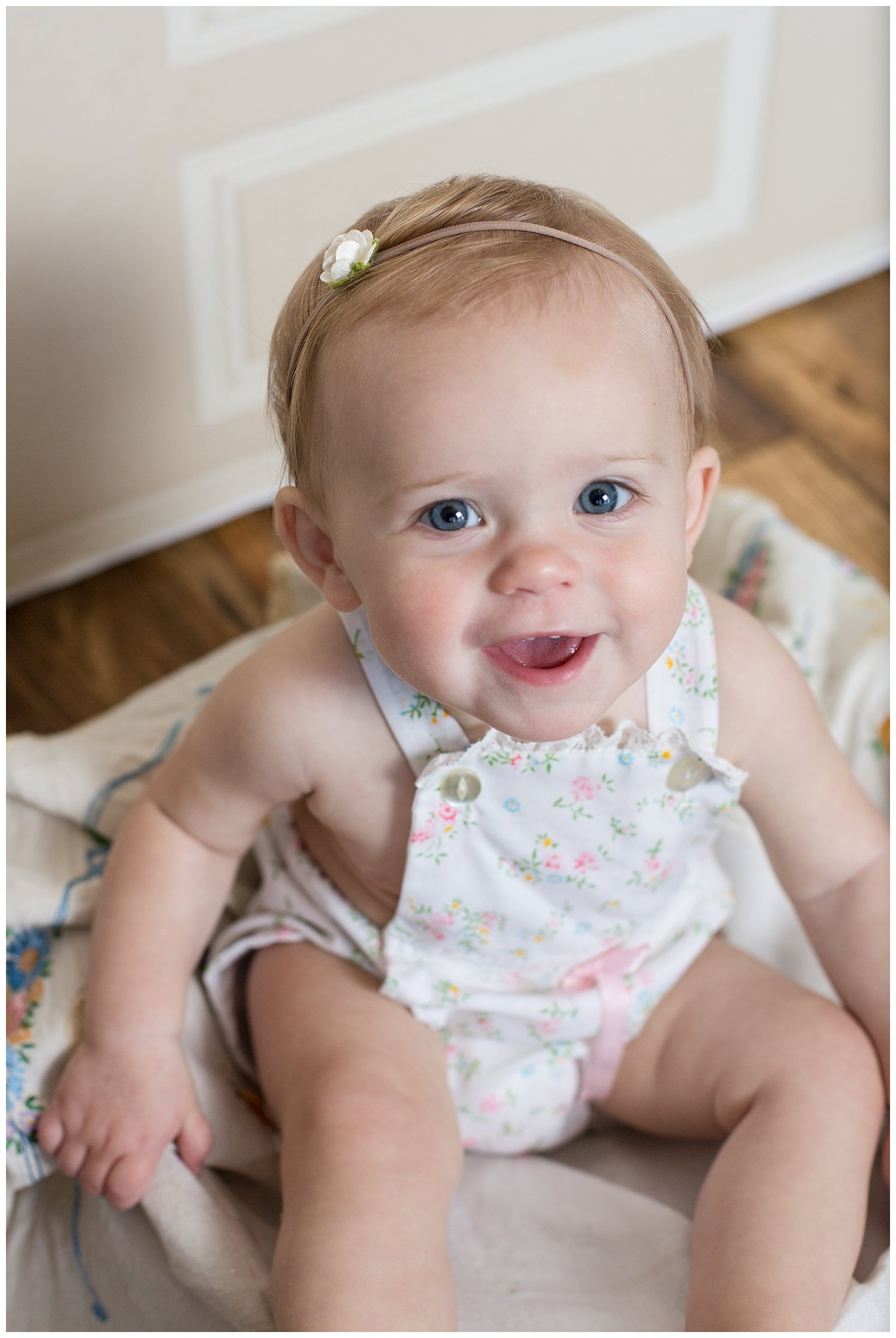 one year session reno Nevada vintage baby Claire