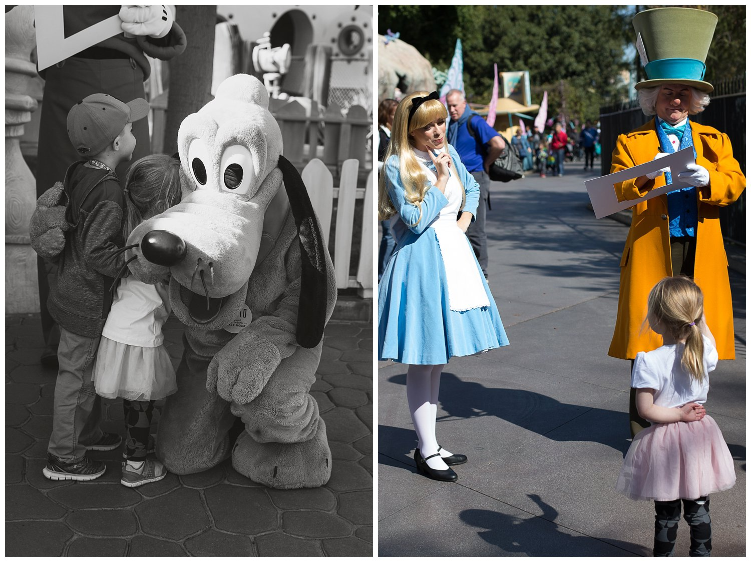 We spent a lot of our Disney time getting autographs from all the characters! Alice and the mad hatter were SO into their characters! They were Amazing!