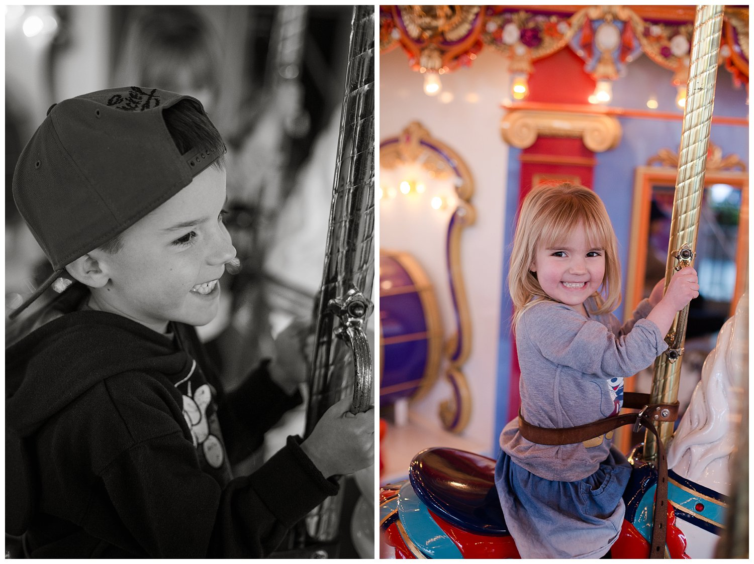 The carousel was another favorite that we were able to do over and over thanks to it's close proximity to the teacups and the short lines.