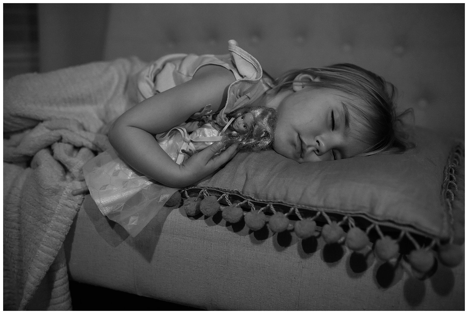 Momma's girl fell asleep on the couch in my studio while I was editing one night.