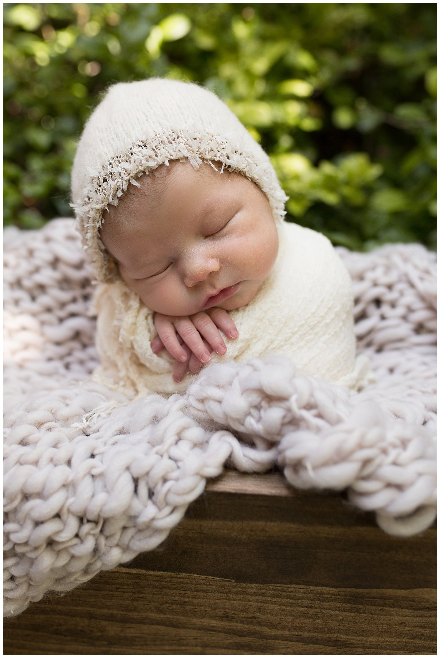 newborn photography baby girl in yellow outdoor
