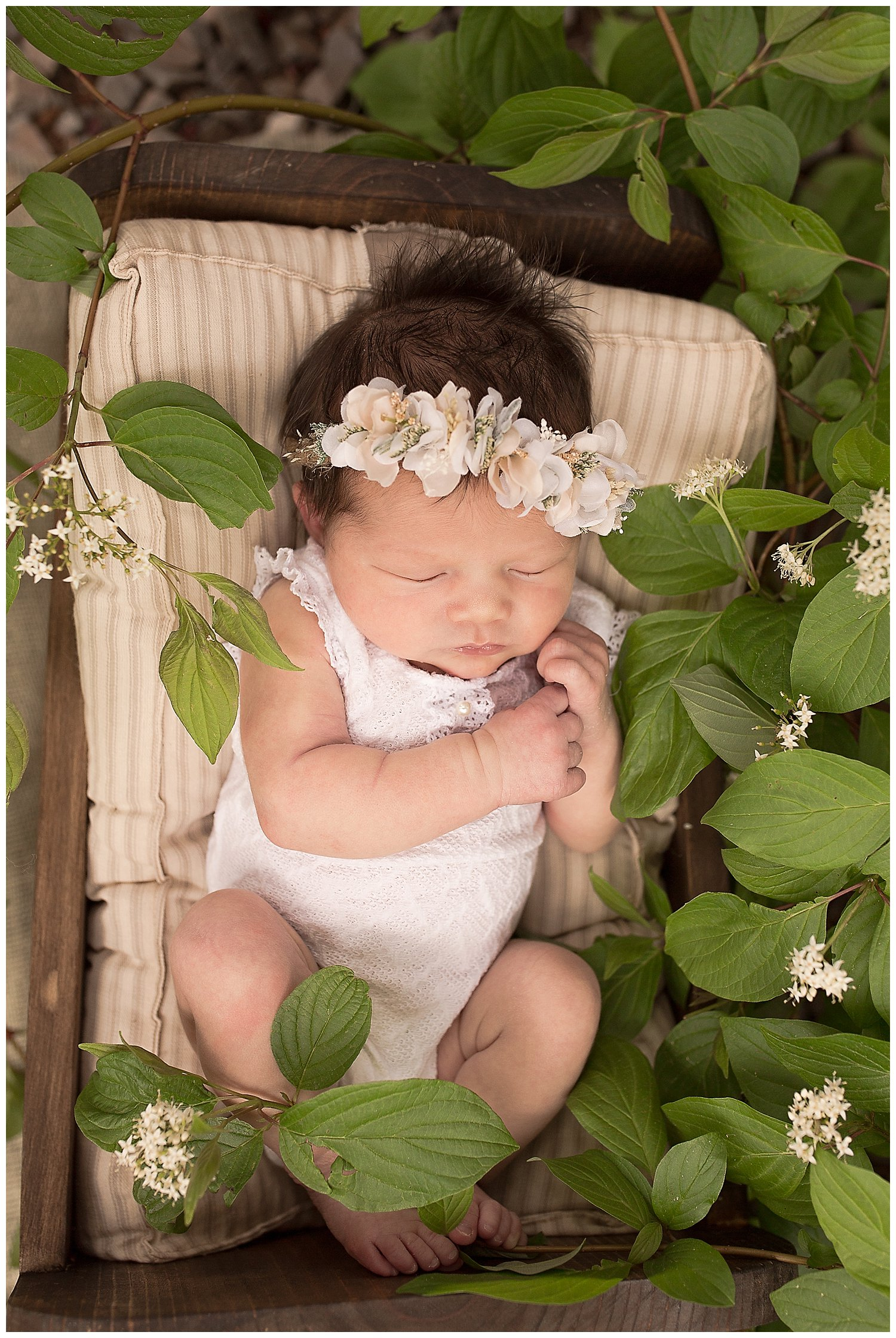 baby girl newborn smiling outdoor