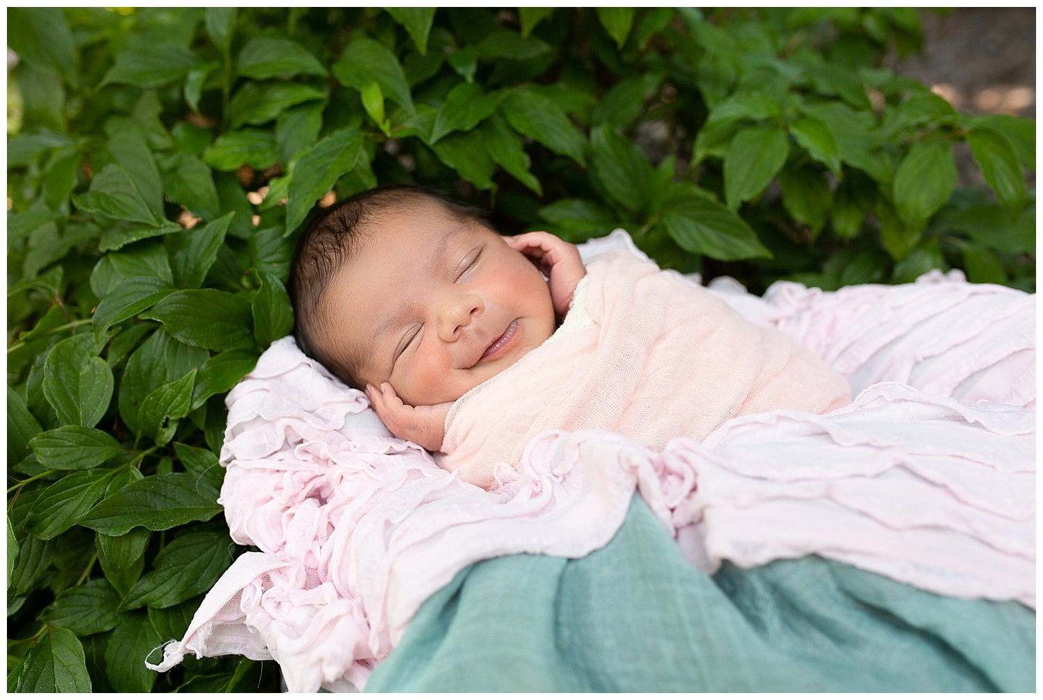 All smiles in her sleep too! I don't think it gets any cuter than this?!
