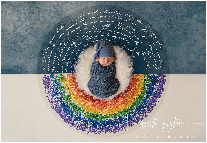 rainbow baby newborn composite