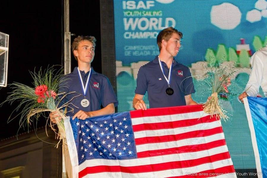 Quinn Wilson and Riley Gibbs Awarded Silver Medal in boys 29er skiff class