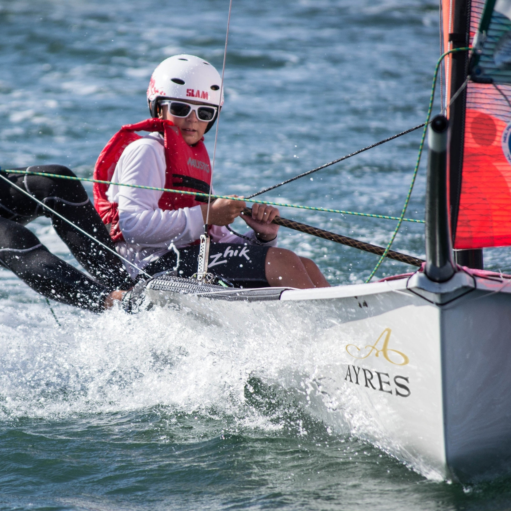 young peter joslin learning to sail the 29er