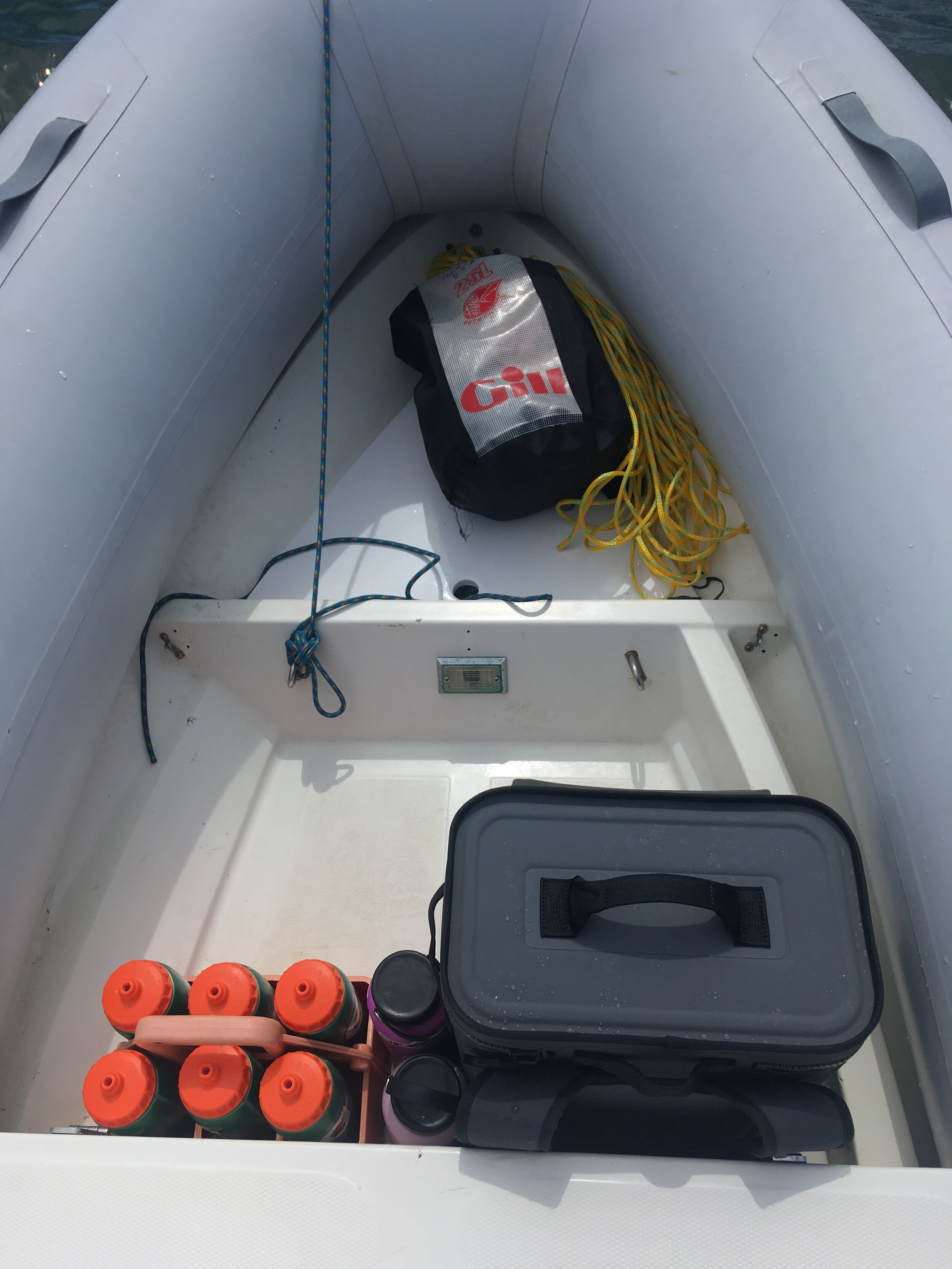 Help keep the coach boat organized: invest in a  dry bag  and  water bottle holder !