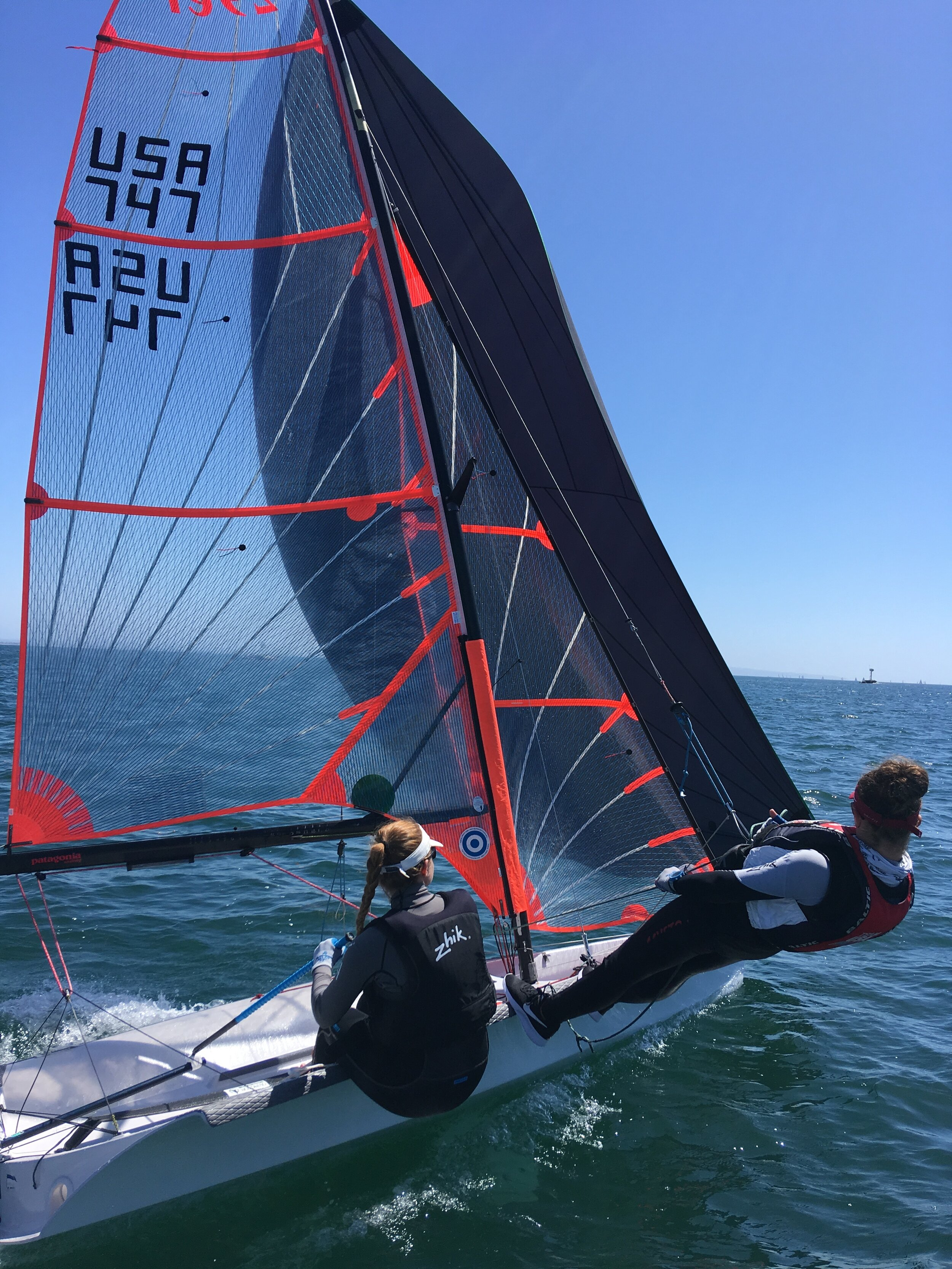 Svenja Leonard and Adra Ivancich ripping in the 29er