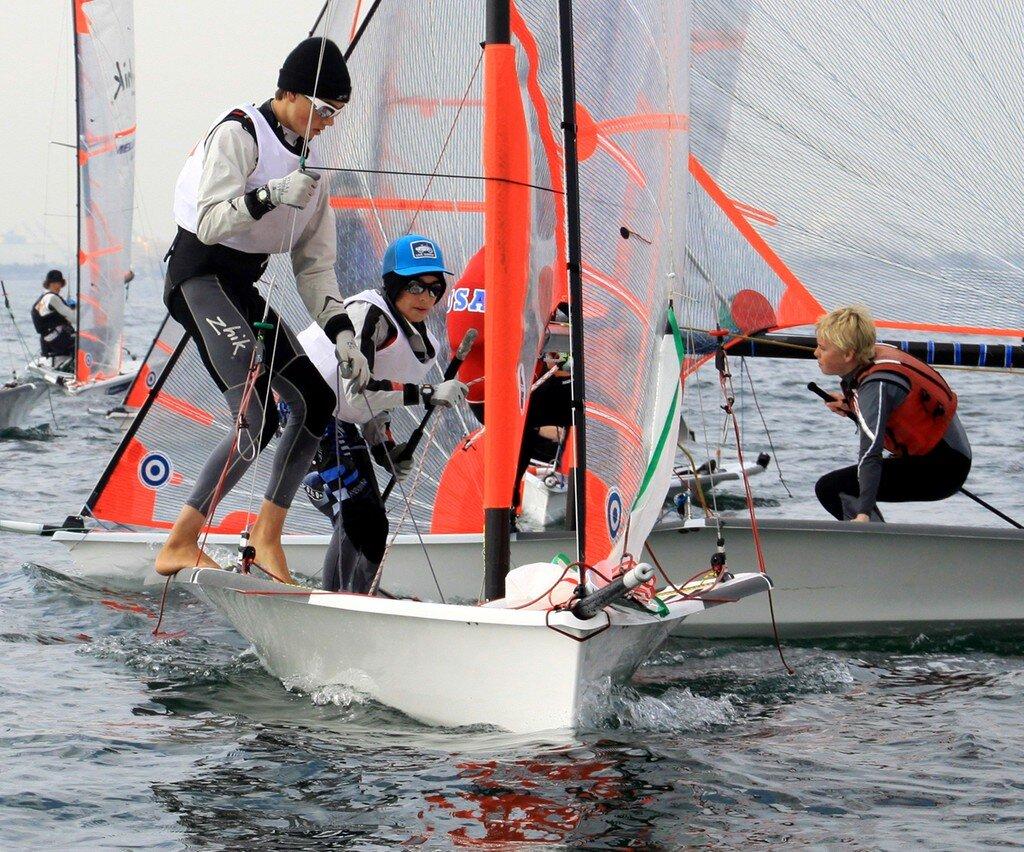 Quinn and Dane Wilson of Ojai California sailing the 29er