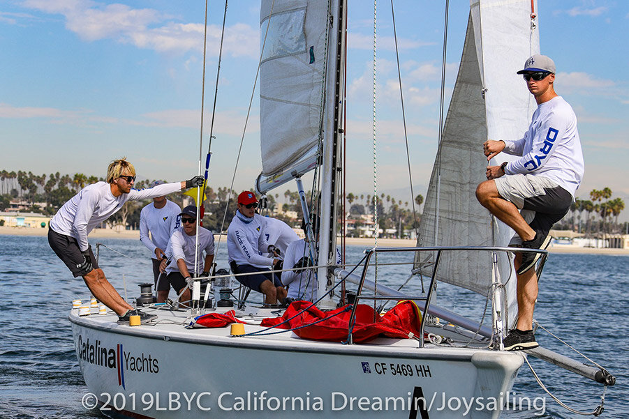 Willie McBride and Alex Burrow onboard Catalina 37 Sailboat for California Dreamin' Match Race Event