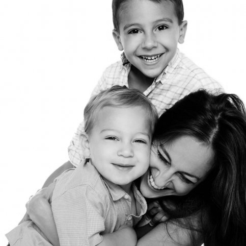 Carmita with her most important legacy---her sons Teddy and Harry