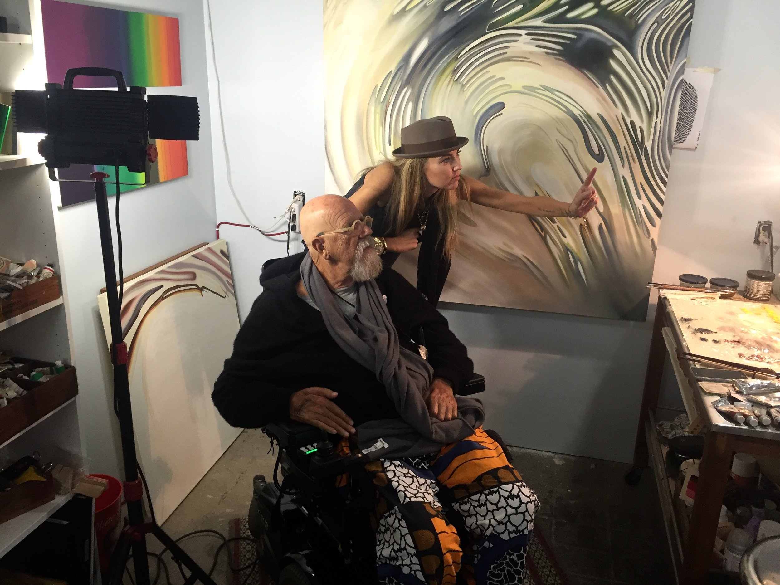 Scott with her long-time mentor, Chuck Close