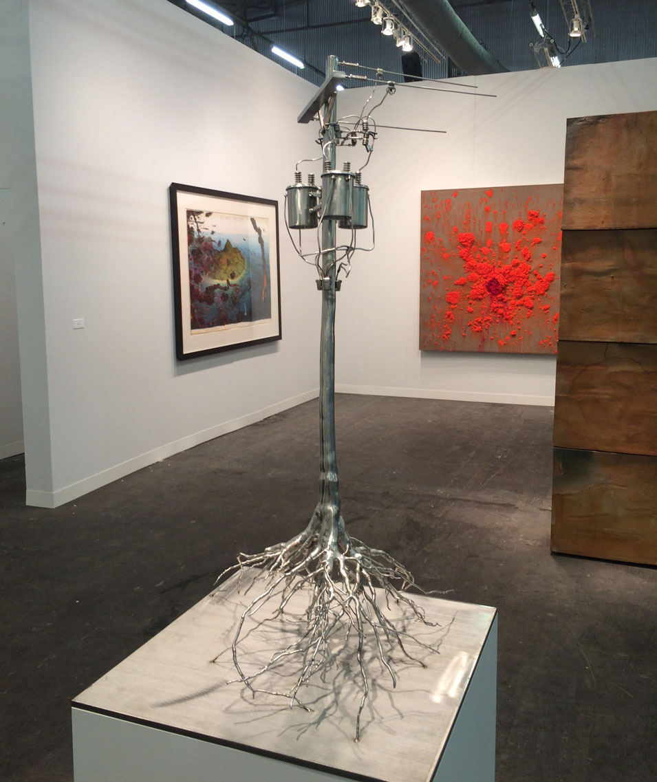 Roxy Paine,  Ground Fault , 2016, Paul Kasmin Gallery, New York, NY