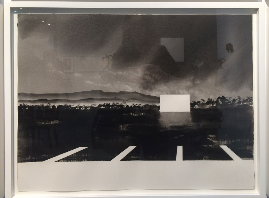 Alfred Leslie,  Drive-In Movie, Santa Barbara, California,  1978/81, Watercolor, Hill Gallery, Birmingham, MI