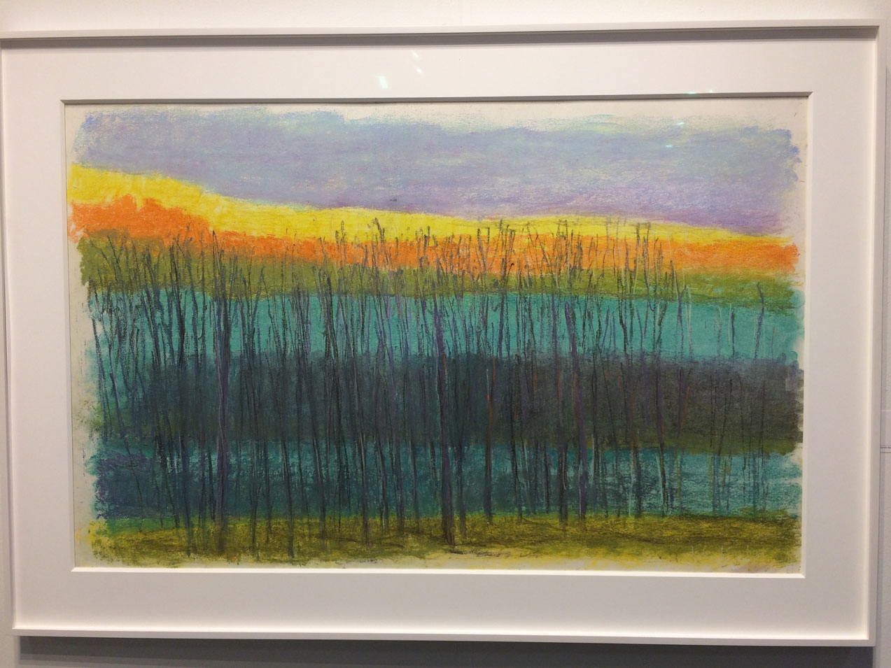 Wolf Kahn,  Bands and Layers , 2012, Pastel on paper, Somerville Manning Gallery, Greenville, DE