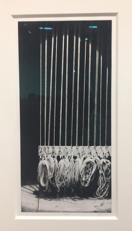 Craig McPherson,  Hemp Lines I , 2011-12, drypoint and mezzotint, Forum Gallery, New York, NY