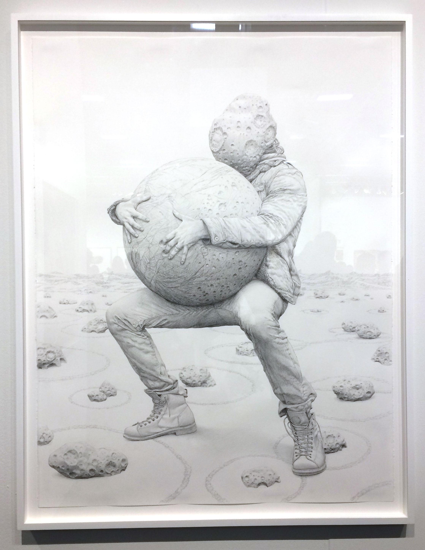 Jean-Pierre Roy,  Gigantomachy , 2017, graphite on paper, Gallery Poulsen, Copenhagen, DK