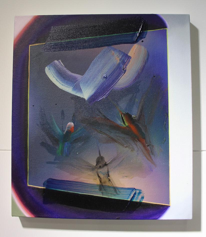 Raychael Stine,  Hummingbird Vision 6,  2016, Oil & acrylic on canvas, Art Palace, Houston, TX