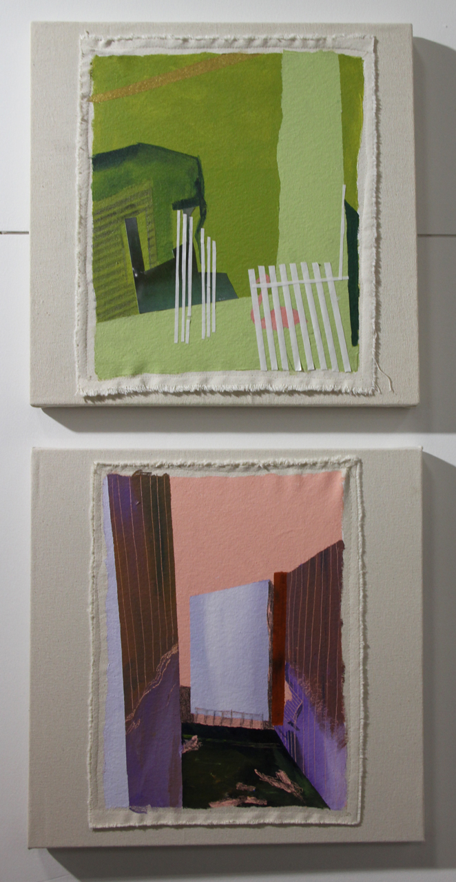 Jamie Earnest, Collage/paintings on canvas, 2016-2017, Cindy Lisica Gallery, Houston, TX
