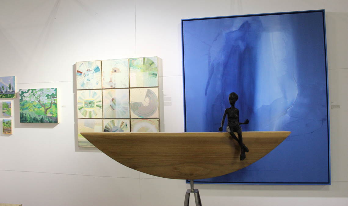 Artwork by Nola Parker, Ellen Heck, Mallory Page, and Holly Wilson at Wally Workman Gallery, Austin, TX