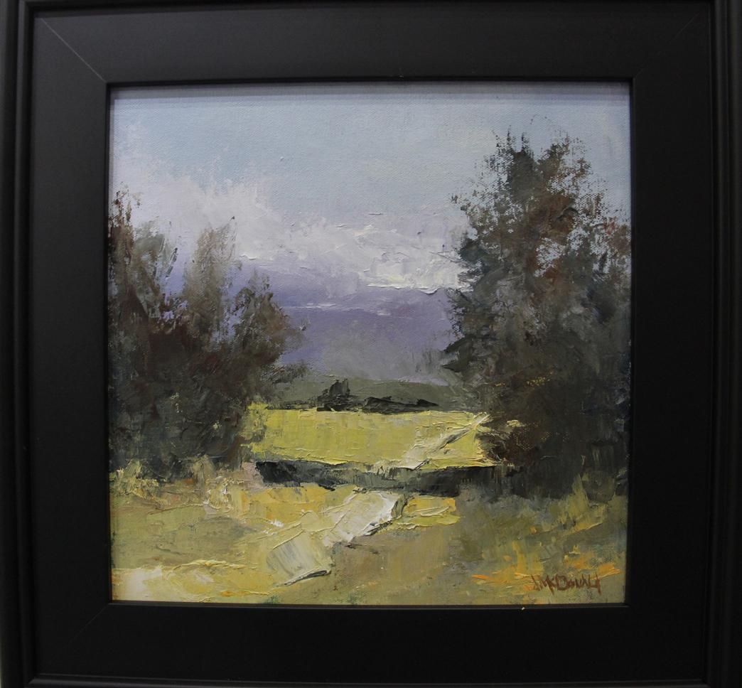 Jim McDonald,  Hill Country #1,  2017, Oil on panel, Steidel Fine Art, Wimberley, TX