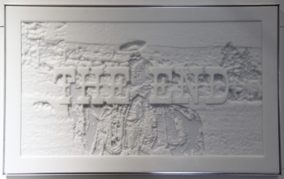 Dana Younger,  The End of Cowboys,  Machined polyethylene with aluminum frame, Dimension Gallery, Austin, TX