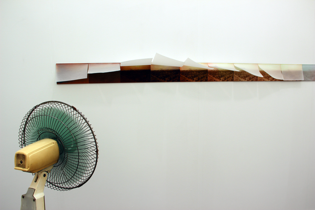Zhang Peili,  One-Thousandth of a Second to One Second , 1995, 10 color photographs, electric fan, Boers-Li Gallery, Beijing, CN