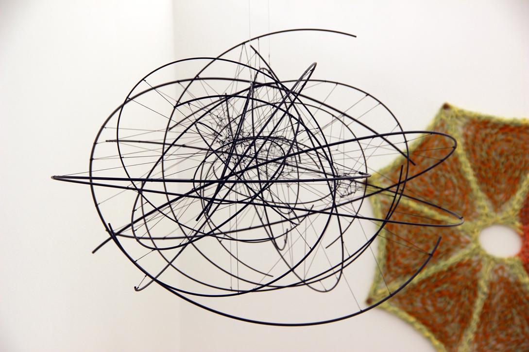 Tomas Saraceno,  Zonal Harmonic 1N 67.5/7 + 3N , 2016, metal, polyester rope, fishing line, steel thread, Tanya Bonakdar Gallery, New York, NY