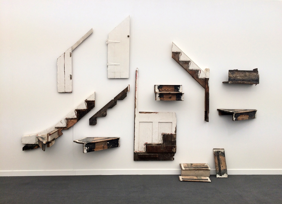 Cornelia Parker,  There must be some kind of way outta here , 2016, Mixed media (fragments of Jimi Hendrix's staircase), Frith Street Gallery, London, UK