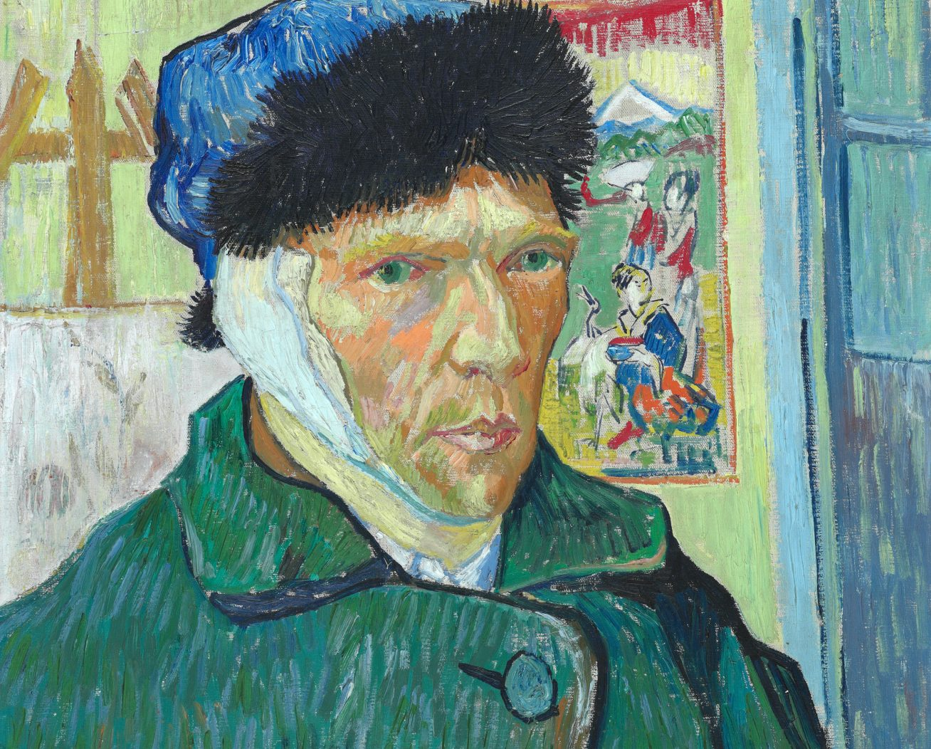 Self Portrait with Bandaged Ear. Image from Courtauld