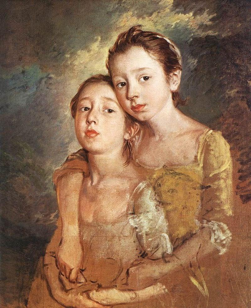 Portrait of Thomas Gainsborough's daughters