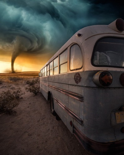"""Bus & Tornado"" by Anna McNaught"