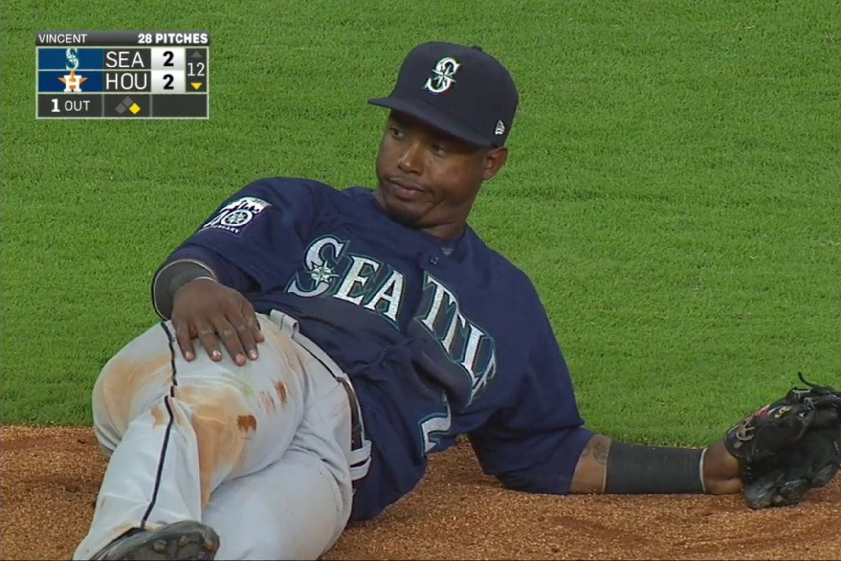 There is literally no better visual representation of April 2017 than this screencap. Hopefully it does not become the best representation of the whole season, but time will tell. Until then, here is unimpressed Jean Segura in the 12th inning of a baseball game.