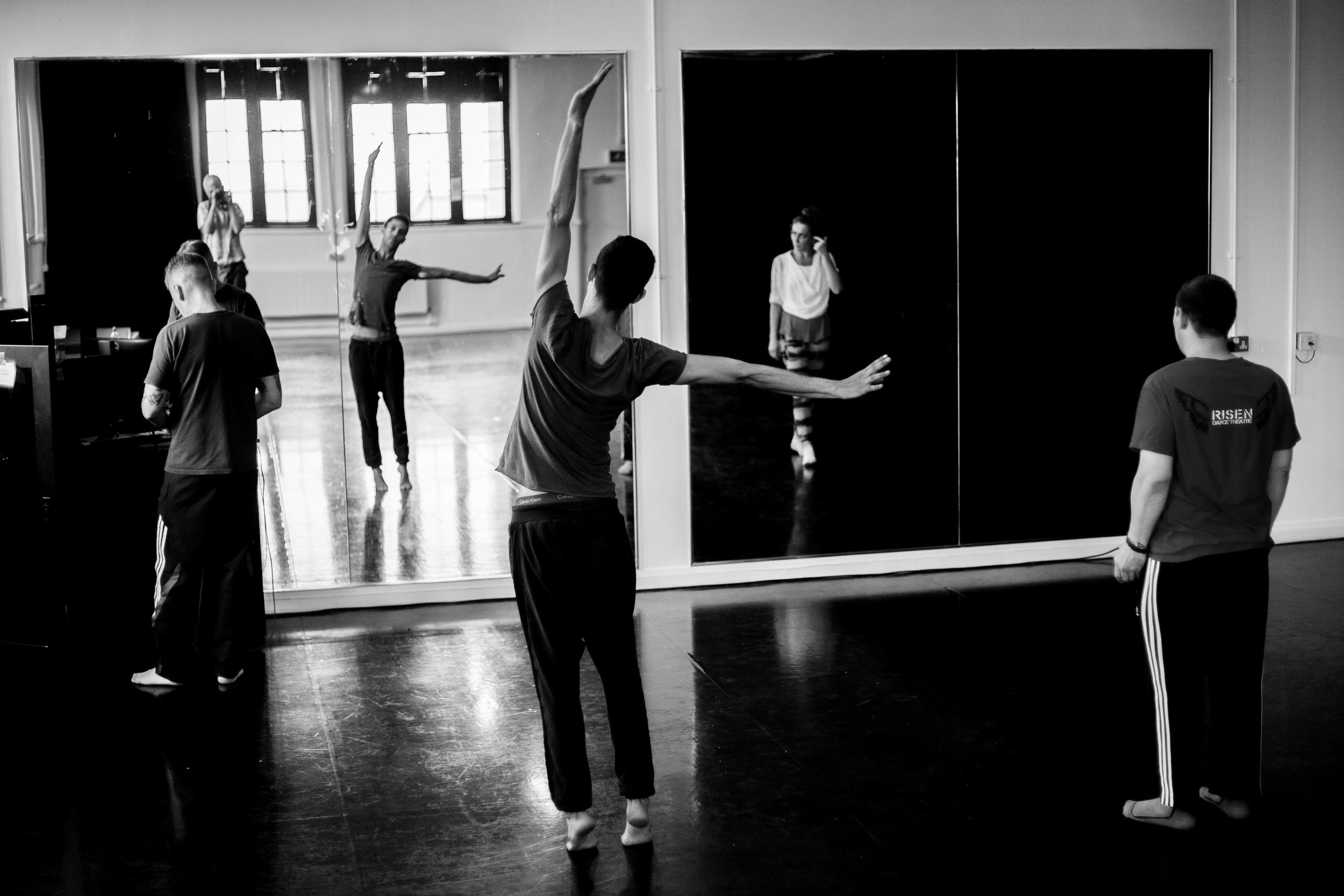 Fallen Angels Dance Theatre rehearsal.